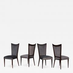 Gio Ponti 1960s Modernist Italian Walnut Dining Chairs - 1666664