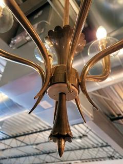 Gio Ponti Brass Gio Ponti style Chandelier Mid Century Modern - 631714