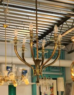 Gio Ponti Brass Gio Ponti style Chandelier Mid Century Modern - 631717