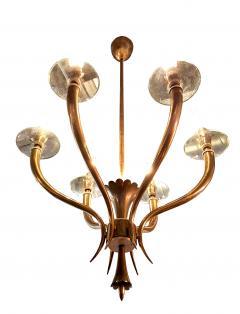 Gio Ponti Brass Gio Ponti style Chandelier Mid Century Modern - 631719
