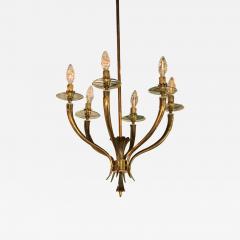 Gio Ponti Brass Gio Ponti style Chandelier Mid Century Modern - 632984