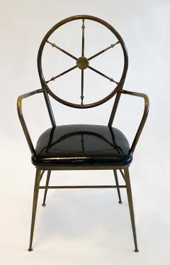 Gio Ponti Compass Back Armchair in Brass Attributed to Gio Ponti 1950s - 1248656