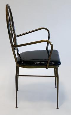 Gio Ponti Compass Back Armchair in Brass Attributed to Gio Ponti 1950s - 1248657