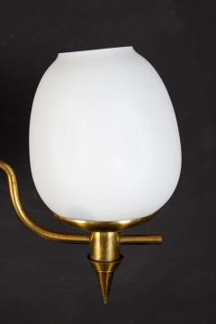 Gio Ponti Elegant Brass and Opaline Murano Glass Table Lamp Attributed to Gio Ponti - 1561711