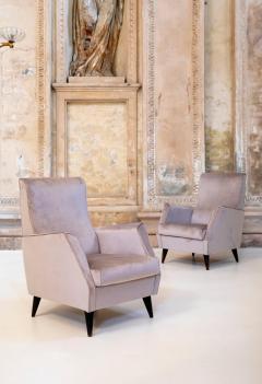Gio Ponti Elegant Pair of Italian Armchairs - 1572926