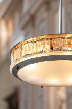 Gio Ponti Elegant italian midcentury chandelier by Fontana Arte - 1273830