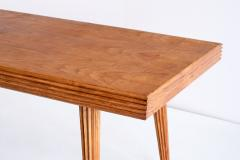 Gio Ponti Exceptional Gio Ponti Rectangular Dining Table in Fluted Walnut Italy 1940s - 1961506