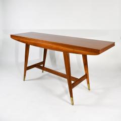Gio Ponti Flip top console table in walnut brass  - 1067263