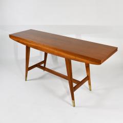 Gio Ponti Flip top console table in walnut brass  - 1067264