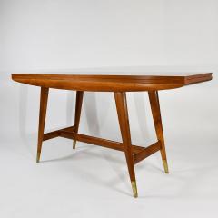 Gio Ponti Flip top console table in walnut brass  - 1067265