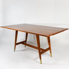 Gio Ponti Flip top console table in walnut brass  - 1067266