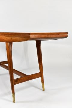 Gio Ponti Flip top console table in walnut brass  - 1067267
