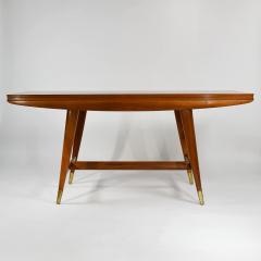 Gio Ponti Flip top console table in walnut brass  - 1067268
