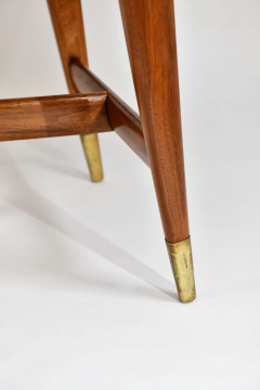 Gio Ponti Flip top console table in walnut brass  - 1067269