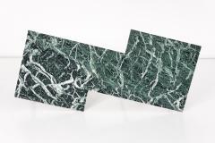Gio Ponti Geometric Italian 1940s Coffee Table with Marmo Verde Alpi Marble Top - 1284827