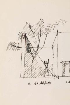 Gio Ponti Gio Ponti Architectural Drawing Disegno di una Villa a Bordighera  - 1630823