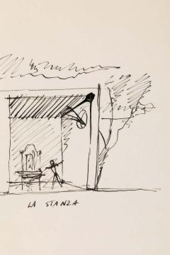 Gio Ponti Gio Ponti Architectural Drawing Disegno di una Villa a Bordighera  - 1630824