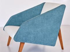 Gio Ponti Gio Ponti Attributed Armchair in Leli vre Fabric and Beech Italy Late 1950s - 2047067