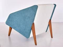 Gio Ponti Gio Ponti Attributed Armchair in Leli vre Fabric and Beech Italy Late 1950s - 2047068