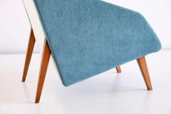 Gio Ponti Gio Ponti Attributed Armchair in Leli vre Fabric and Beech Italy Late 1950s - 2047069