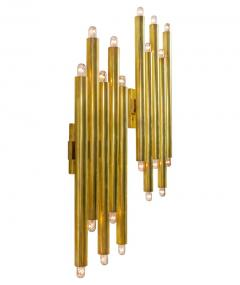 Gio Ponti Gio Ponti Brass Multi Cylinder Sconces for Candle Italy 1970s - 711628