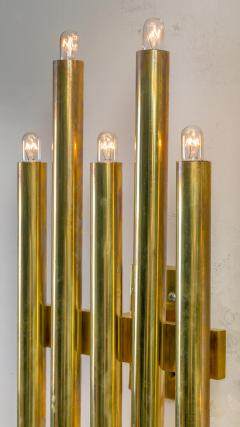 Gio Ponti Gio Ponti Brass Multi Cylinder Sconces for Candle Italy 1970s - 711629