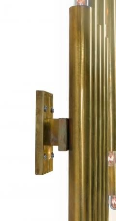 Gio Ponti Gio Ponti Brass Multi Cylinder Sconces for Candle Italy 1970s - 711631