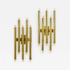 Gio Ponti Gio Ponti Brass Multi Cylinder Sconces for Candle Italy 1970s - 711726