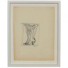 Gio Ponti Gio Ponti Drawing of Boots for Christofle Paris 1956 - 296973