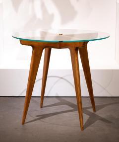 Gio Ponti Gio Ponti Maple And Glass Circular Table - 1691071