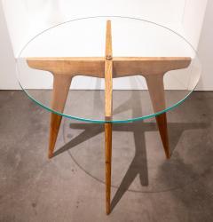 Gio Ponti Gio Ponti Maple And Glass Circular Table - 1691072