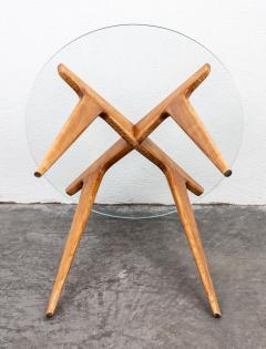 Gio Ponti Gio Ponti Maple And Glass Circular Table - 1691076