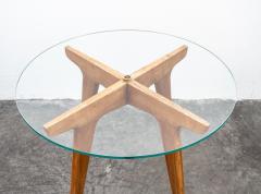Gio Ponti Gio Ponti Maple And Glass Circular Table - 1691077