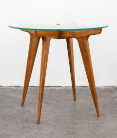 Gio Ponti Gio Ponti Maple And Glass Circular Table - 1691079