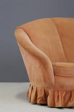 Gio Ponti Gio Ponti Midcentury Sofa in Orange Original Velvet 1930s - 1468059