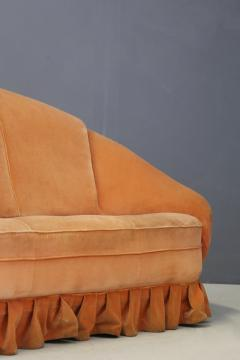 Gio Ponti Gio Ponti Midcentury Sofa in Orange Original Velvet 1930s - 1468060