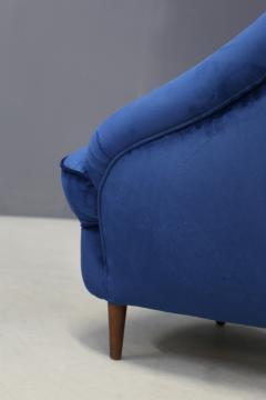 Gio Ponti Gio Ponti Pair of MidCentury armchairs in blue velvet 1930s - 1264755