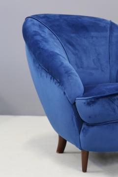 Gio Ponti Gio Ponti Pair of MidCentury armchairs in blue velvet 1930s - 1264760