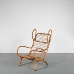 Gio Ponti Gio Ponti Rattan Easy Chair for Bonacina Italy 1950 - 1361575