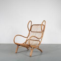 Gio Ponti Gio Ponti Rattan Easy Chair for Bonacina Italy 1950 - 1361577