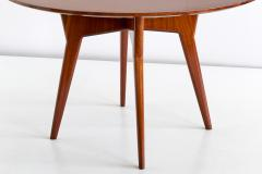 Gio Ponti Gio Ponti Round Dining Table in Mahogany and Thuja Burr Italy Early 1950s - 1076454