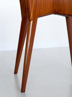 Gio Ponti Gio Ponti Round Dining Table in Mahogany and Thuja Burr Italy Early 1950s - 1076461