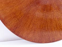 Gio Ponti Gio Ponti Round Dining Table in Mahogany and Thuja Burr Italy Early 1950s - 1076463