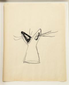 Gio Ponti Gio Ponti Sketch Disegni per Vasi Incrociatifor  - 1089736
