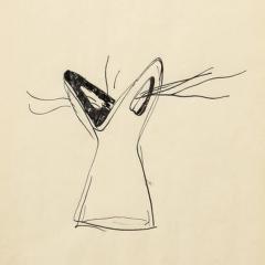Gio Ponti Gio Ponti Sketch Disegni per Vasi Incrociatifor  - 1089790