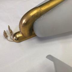 Gio Ponti Gio Ponti Style Mid Century Modern Brass and Glass Wall Sconces - 1020894