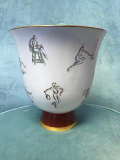 Gio Ponti Gio Ponti Tennis Themed Vase for Richard Ginori - 459718