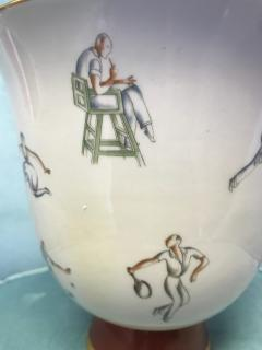 Gio Ponti Gio Ponti Tennis Themed Vase for Richard Ginori - 459720