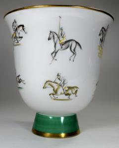 Gio Ponti Gio Ponti for Richard Ginori Vase Polo Horses - 385465