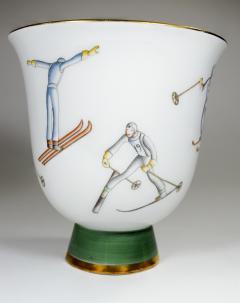 Gio Ponti Gio Ponti for Richard Ginori Vase with Ski Theme - 385486